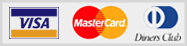 Visa, MasterCard, DinersClub